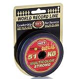 WFT KG STRONG Schnur geflochtene 600m 0,12mm 15 kg, Farbe:multicolor