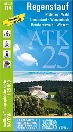 ATK25-I14 Regenstauf (Amtliche Topographische Karte 1:25000): Nittenau, Wald, Donaustauf, Wenzenbach, Bernhardswald, Wiesent (ATK25 Amtliche Topographische Karte 1:25000 Bayern)