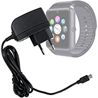 DURAGADGET Cargador (1 Amperio) Para Smartwatch Mobiper G08 - Con Enchufe Europeo De Pared Y Conexión Micro USB - Certificado Por La CE