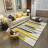 Stilvolle hause teppich wohnzimmer sofa boden warme rechteckige gelbe aquarell mat 120 * 160 cm ( Größe : 140*200cm-b )