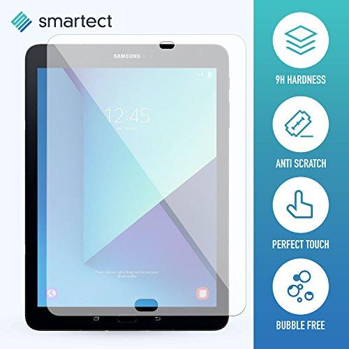 1x Panzerglas Folie für Samsung Galaxy Tab S3 9.7 • Panzerfolie mit 9H Härte • Blasenfreie Montage der Folie • Ultra-Dünn (0.3 mm) • Gerundete Kanten (2.5D) • Displayschutzfolie mit Anti-Fingerabdruck