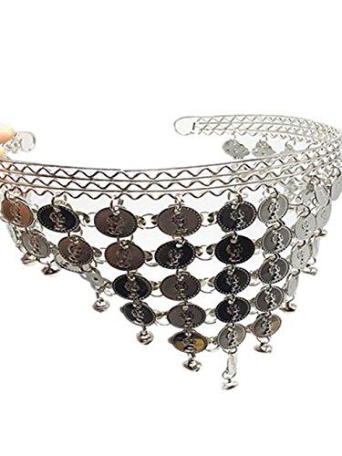 Bauchtanz Tribe Kopfschmuck Mit Glocken Münzen Kostüm Zubehör Weiblich Haarnadel Haar (Bauchtänzerinnen Arabische Kostüm)