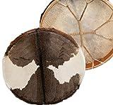 Shamandrum Ø 45 cm Rahmentrommel Rund Ziegenhaut Behaart Shaman Drum inkl. Stick