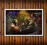 Venom Bane Spider Man Hulk Marvel Vs DC Comics Batman Superman sur Toile HD Imprimer Peinture Murale Art Home Decor 61x 91,4cm/sans Cadre/avec encadrée Unframed Multicolore
