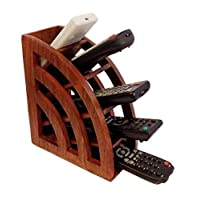 WhopperIndia Wooden Desktop Storage Organizer/Remote Control Caddy Holder Wood Box Container for Desk, Office Supplies (19.05 x 7.62 x 15.24 cm)