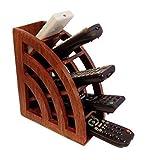 IndiaBigShop Handmade Wooden Multi Fernbedienung Halter / Ständer / Organizer / Rack für platzsparende 5 Slot TV Fernbedienung Speicher Organizer Caddy 7,5 Zoll