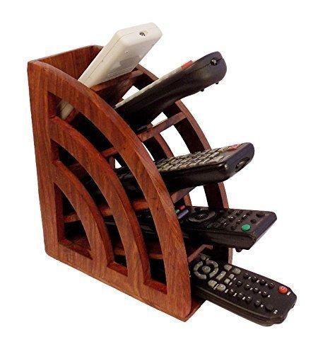 Bignay in legno fatto a mano multi telecomando titolare, tv telecomando organizzatore di archiviazione