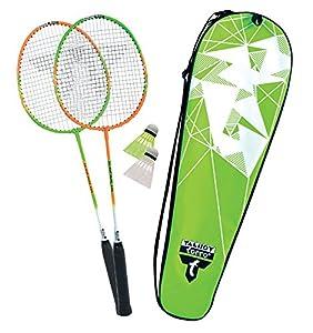 Talbot-Torro Badminton-Set 2-Attacker, 2 Schläger, 2 Federbälle, in wertiger...