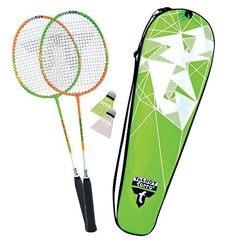Talbot-Torro Badminton-Set 2-Attacker, 2 Schläger, 2 Federbälle, in wertiger Tasche, 449502