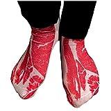 EROSPA® Blutige 3D Socke Steak Schweine-Fleisch Speck Unisex Damen Herren 35-42