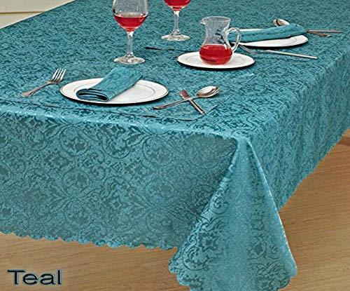 THL Tischdecke aus reinem Jacquard, rechteckig, Blaugrün, Polyester, blaugrün, 52 x 70 (52 X 70 Tischdecke)