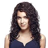Meylee Perruques 19 pouces épais crépus cheveux bouclés perruque pour femme avec perruque libre Cap et peigne Cosplay ou Wear(Brown) quotidienne