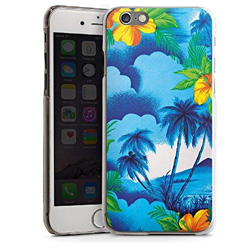 Apple iPhone 6 Housse Étui Silicone Coque Protection Vacances Palmiers Hawaï CasDur transparent