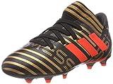 adidas Unisex-Kinder Nemeziz Messi 17.3 FG Fußballschuhe, Schwarz (Core Black/Solar Red/Tactile Gold Metallic), 38 2/3 EU