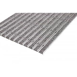 EMCO Eingangsmatte DIPLOMAT ca. 10 mm hellgrau mit Ripseinlage ohne Einbaurahmen, Größe:590 x 390 mm