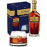 Metaxa 12 Star Greek Brandy 40% vol 70cl + 2 Tumbler Gift Set