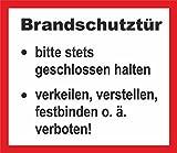 easydruck24de Aufkleber Brandschutztür/Feuerschutzabschluss, Art. Hin_197, Nach Din 4102-5 (D) BZW. Önorm B 3850 (Ö), Achtung, Vorsicht, Hinweis, Hinweisaufkleber, Brandschutz, iSecur