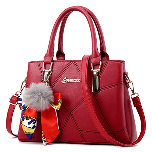 Ghlee, Borsa a spalla donna Wine Red