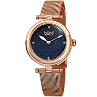 Burgi Womens Quartz Watch, Analog Display and Stainless Steel Strap BUR231RGBU