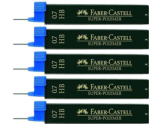 Preisvergleich Produktbild 5er Sparpack Faber Castell SUPER-POLYMER Feinminen 0.7HB