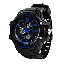 Skmei Analogue-Digital Blue Dial Men's Sports Watch -990BLU