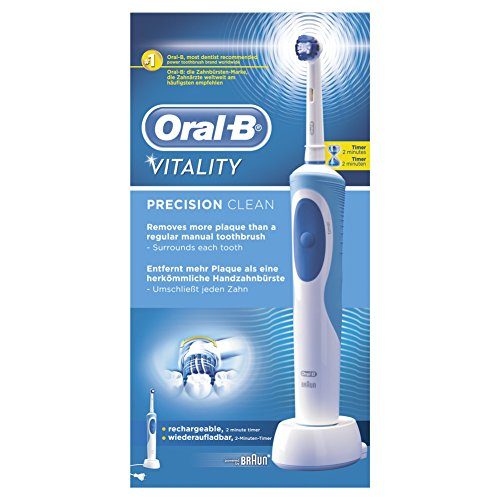 Oral-B Vitality Cross Action - Cepillo de dientes eléctrico recargable,...