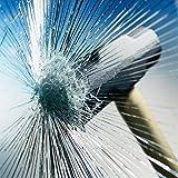 Happyroom Trasparente in Vetro Finestra Pellicola autoadesiva Pellicola Protettiva Trasparente per finestrini a Prova di Esplosione Trasparente di Sicurezza Finestra Adesivi 76cm*10m(76cm*10m)