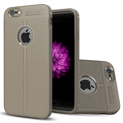 iPhone6/6S Doux Coque,EVERGREENBUYING Ultra Slim léger Housse IPHONE 6S Etui Premium Flexible Doux TPU Case Anti Glisse Cover pour iPhone 6 / iPhone 6s (4.7 inch) Azur Gris