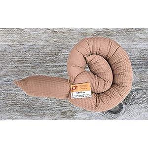 Bettschlange, Waffelpique Taupe, 180cm bis 300cm wählbar, Handmade, ÖKO-TEX® Standard 100 zertifizierte Materialien, 100% Made in Germany