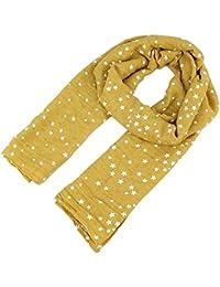 Butterme Mignon étoile imprimé écharpe hiver automne confortable écharpe douce pour enfant fille garçon