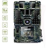 """DOHIKER - Wildkamera 16MP 1080P Jagdkamera Fotofalle Beutekameras 2.0"""" TFT Farbbildschirm mit 120°Weitwinkel Vision Nachtsicht für Outdoor Natur Garten Garage und Haussicherheitsüberwachung"""