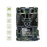DOHIKER Cámara de Caza Gran Angular de 120°y 16MP y 1080P Trail cámara 48 Luces LED con PIR Infrarrojo Sensor de Movimiento Visión Nocturna Seguridad de Niños Hogar Animal (Sin Tarjeta SD ni batería)