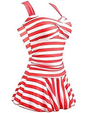 Summer Mae Donna Costume da bagno Dimagrante Costume intero a Strisce