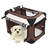 Sailnovo Hundetransportbox Hundebox Haustier Transportbox Transporttasche XL