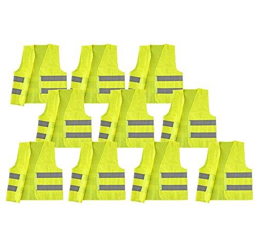 COM-FOUR® Sicherheits Warnweste 100% Polyester Einheitsgröße DIN 471 (10)