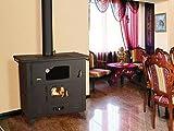 14KW horno para cocinar estufa chimenea de hierro fundido de parte superior de combustible sólido
