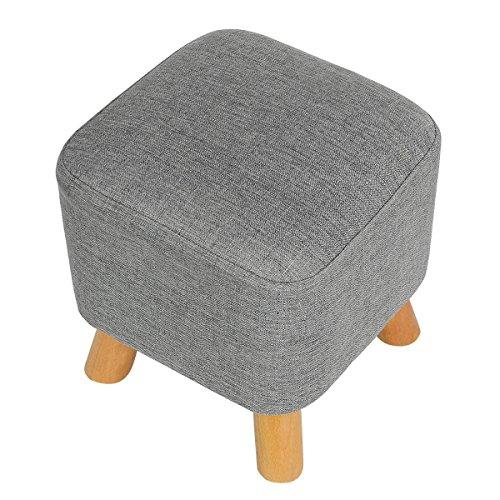Eshow Rattan gewebt Lagerung Hocker Furniture Stools Hause Wohnzimmer Europäischen Stil Leder - Europäischen Stil Wohnzimmer