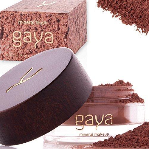 Mineral Puder Makeup Rouge – Vegan 100% natürlich BF3 Shade Make Up Blush für alle Hauttypen und langanhaltende Resultate – In einer 9g Dose (Coral Glitter)