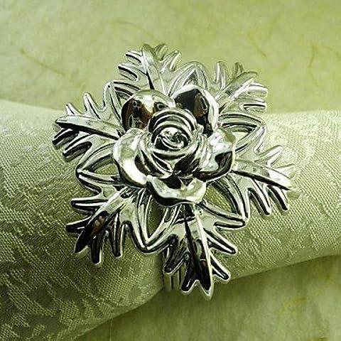 lxlfmy fiocchi di neve, mano anello fiore tovagliolo in argento,