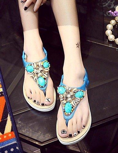 LFNLYX Chaussures Femme-Mariage / Bureau & Travail / Habillé / Décontracté / Soirée & Evénement-Bleu / Blanc-Talon Plat-Confort / Nouveauté / White