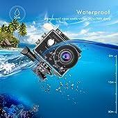 JEEMAK-Action-Cam-4K-Action-Camera-WiFi-16MP-Ultra-HD-Sony-immagine-Sensore-Touch-Screen-Fotocamera-Sportiva-170-Grandangolare-Impermeabile-Sport-Cam-con-Remote-Control-2-Batterie-e-Kit-Accessori