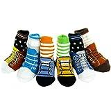Best KF Baby Gifts For Newborn Girls - KF Baby Anti-Slip Baby Boy Shoe Socks, 6 Review