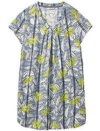 aa53a65c262b13 White Stuff New 6-18 Rice Flower Print Jersey Blue White Green Tunic Top  Dress