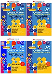 Oswaal ISC Question Bank Class 12 English,Physics, Chemistry, Maths (Set of 4 books)