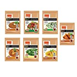 Eastern Ready To Cook Methi Mutter Malai, Shahi Paneer, Dal Makhani, Palak Paneer and Veg Kadai Masala, 40 g - Pack of 7