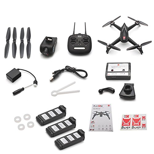 Drone quadricottero con videocamera HD da 1080p 5G WiFi 2.4 GHz aereo radiocomandato RC GPS WiFi Camera FPV one-key taking off/landing e headless mode