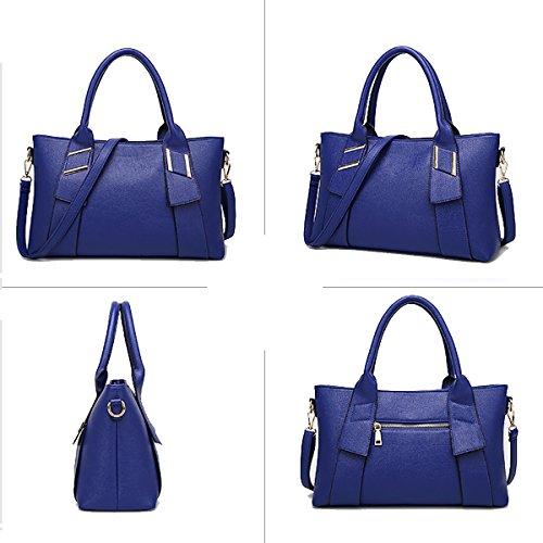 Sunas Le nuove borse delle donne attraversano la madre di modo del sacchetto di spalla due insiemi del sacchetto del messaggero del sacchetto femminile + raccoglitore blu