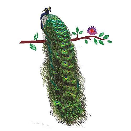 QHJ Aufkleber,DIY Home Peacock Abnehmbare Dekor Umwelt Wandaufkleber Aufkleber (A)