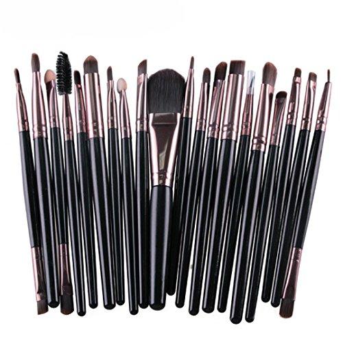 Make-Up Pinsel,Binggong 20 Stücke Make-Up Pinsel Set Werkzeuge Make-Up Kulturbeutel Wolle Make-Up...