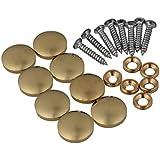 Decoración del hogar de oro BQLZR armarios muebles accesorios decorativa espejo mesa cobre ronda tapón de rosca Nails 8unidades, dorado